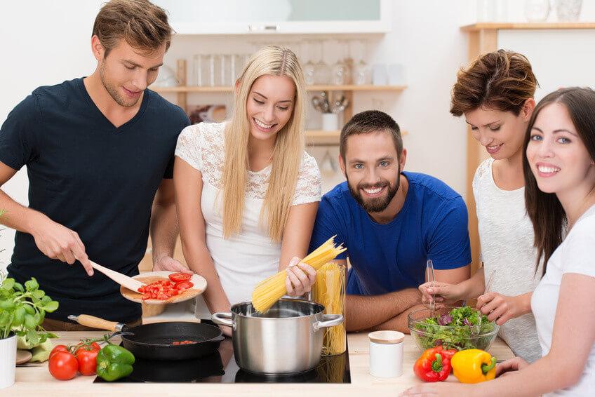fnf freunde kochen zusammen